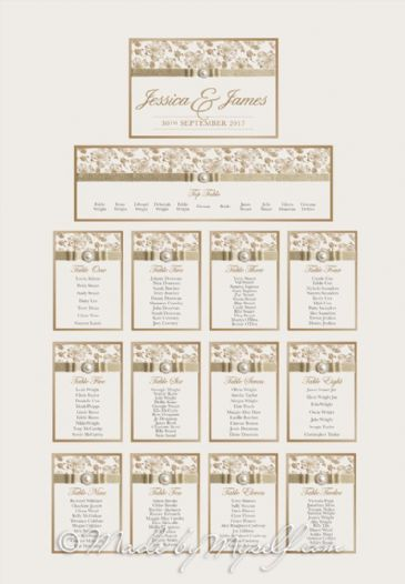 Floral Glitz Table Plan